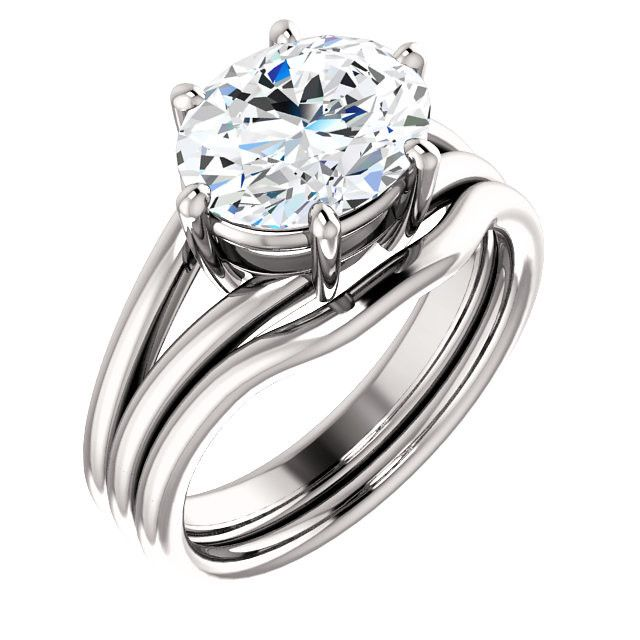 2.0 Ct Oval Solitaire Diamond Engagement Ring 14k White Gold – Goldia.com