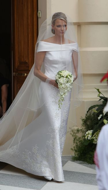 Brides: Charlene Wittstock's Royal Wedding Gown