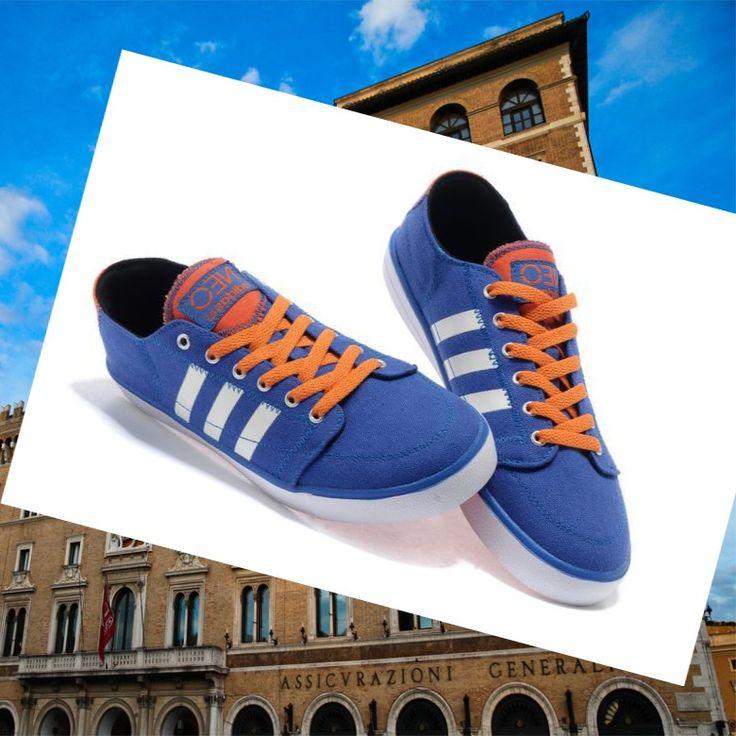 Adidas Originals Stile NEO Scarpe da Uomo Blu/Arancione