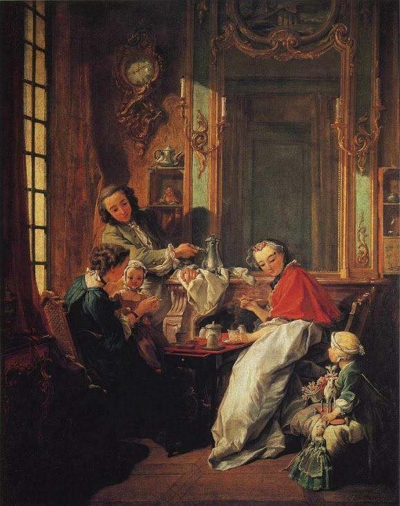 François Boucher – Le Déjeuner (1739) oil on canvas  Paris, Musée du Louvre
