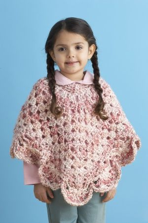 Endearing Girl's Poncho-Making some of these for my friends daughter to console my girly side.