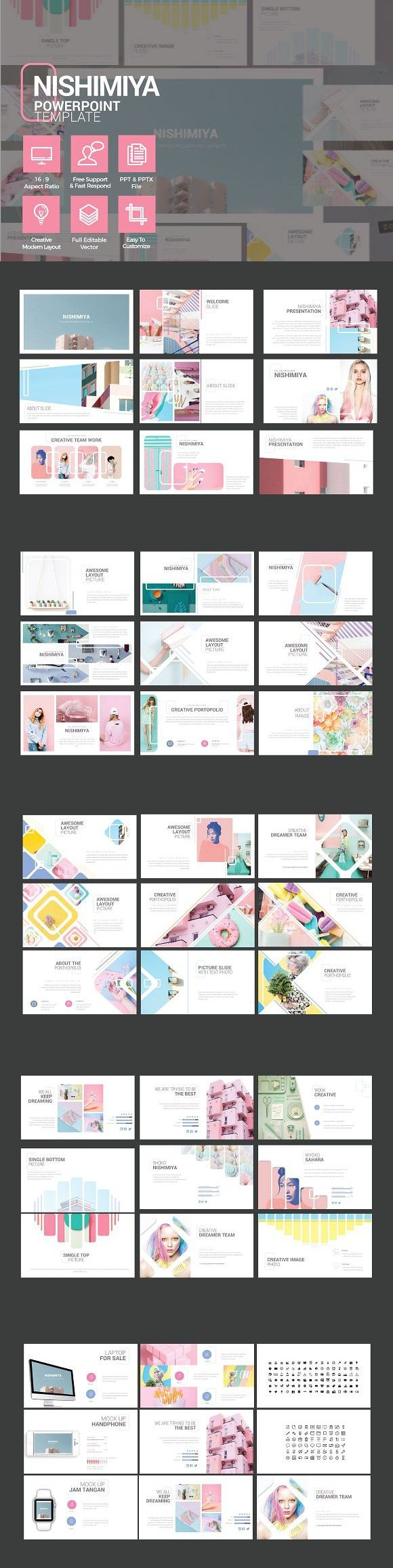NISHIMIYA - MULTIPURPOSE POWERPOINT. Presentation Templates