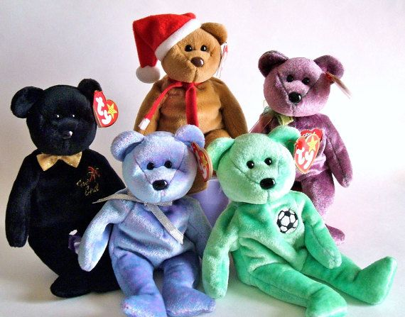 Ty Beanie Babies Ty Bears Plush Bears Stuffed by ParadeOfMemories