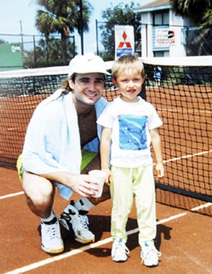 10 Great Photos Of Andre Agassi Wearing Nike Air Tech