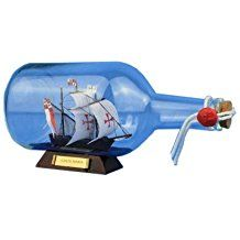 Ship In A Bottle Decor For Sale! Find the best ships in a bottle that you can buy for your nautical themed home. We have large pirate ships, the mayflower, sailboats, and more in a bottle.