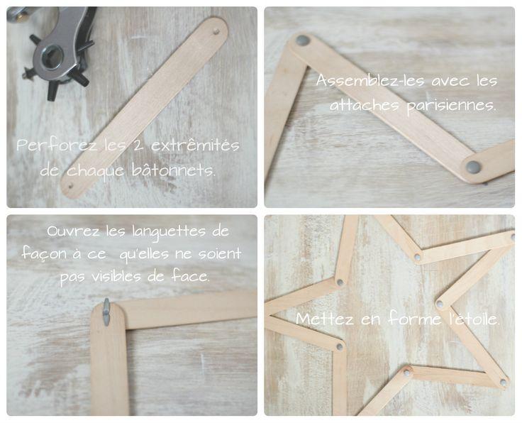 Etoile en bois {DIY} - Avec ses 10 p'tits doigts... Soyez DIY !