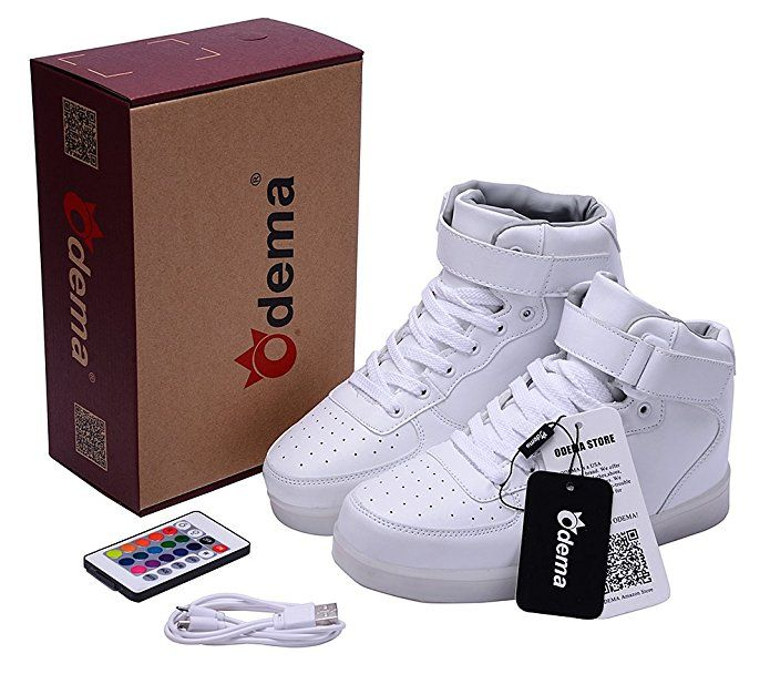 Amazon.com | Odema Women HighTop USB Charging LED Flashing Sneaker | Fashion Sneakers