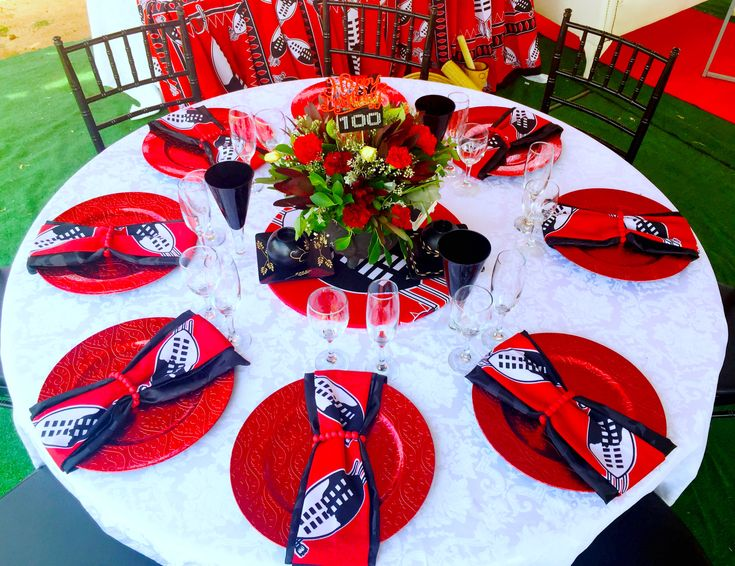 Swazi Traditional Decor Red Black And White 100th