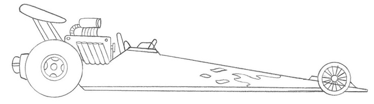 Dragster Car Coloring Pages :