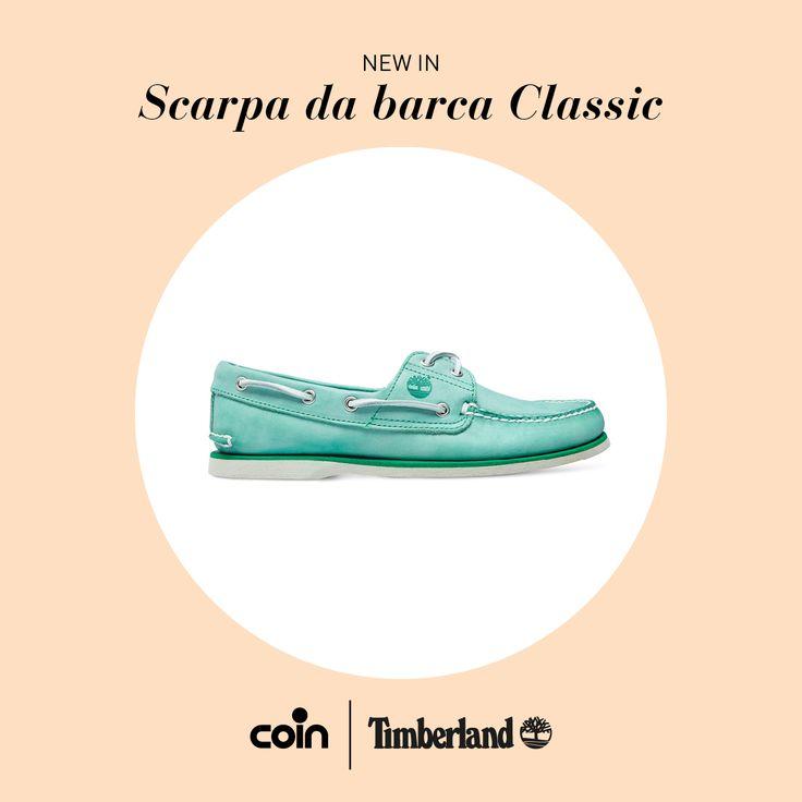 La storicità dei modelli classe 1979 Timberland incontra la novità del colore nella nuova linea di scarpe da barca che ridipinge un'epoca. http://www.coin.it