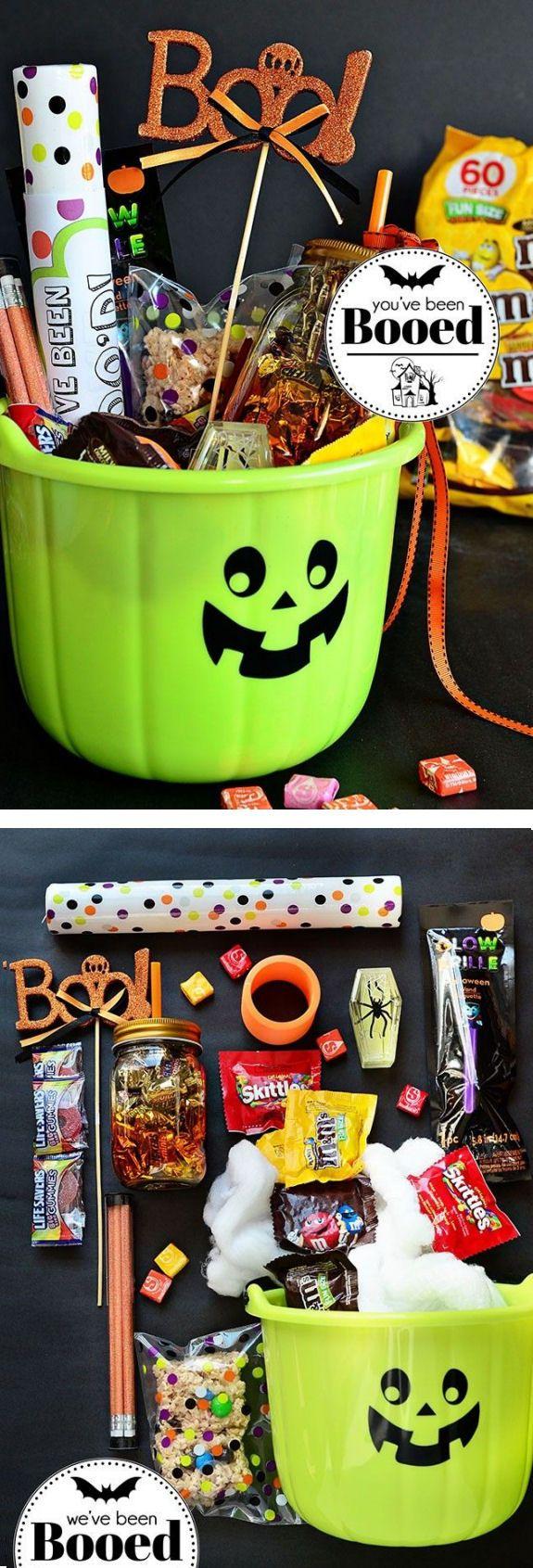 Love This Idea ... cUte #DIY Halloween Gift Basket #BooitForward