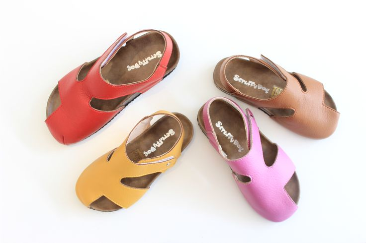 Scruffy Dog #Shoes for #kids. #Fun, #colourful selection for #summer, stocked at Ryker Kids