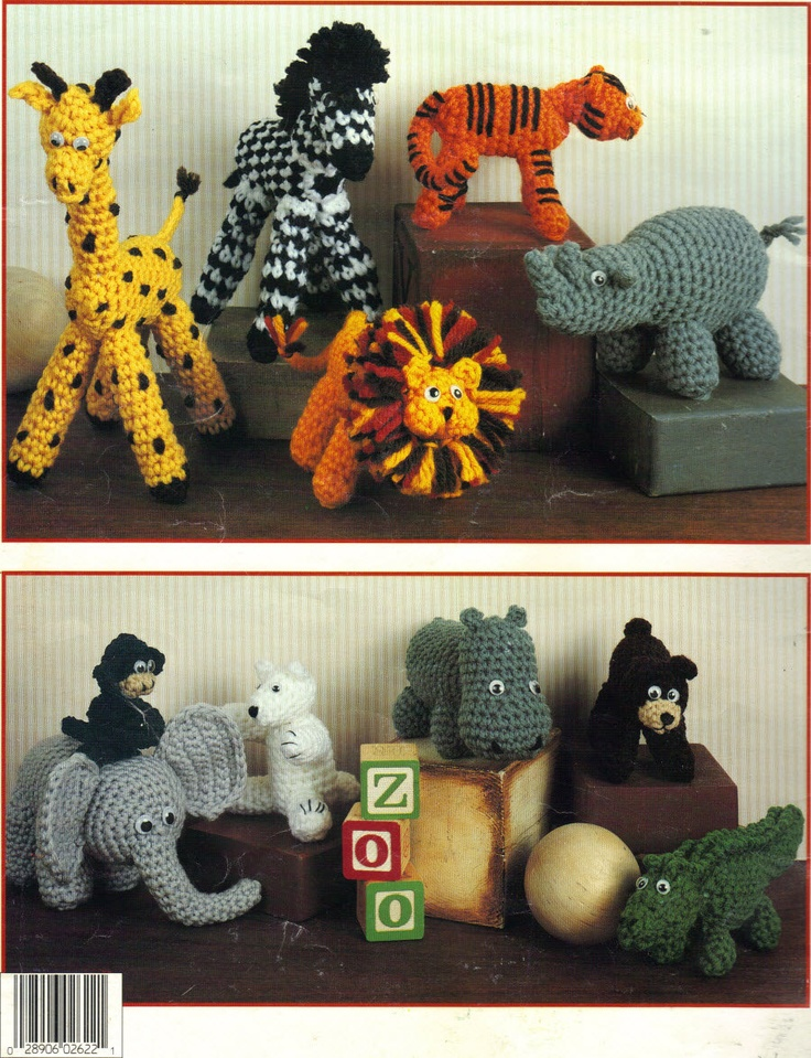 Free Crochet Patterns For Zoo Animals : leisure arts a zoo for you crochet pattern PDF - animal ...