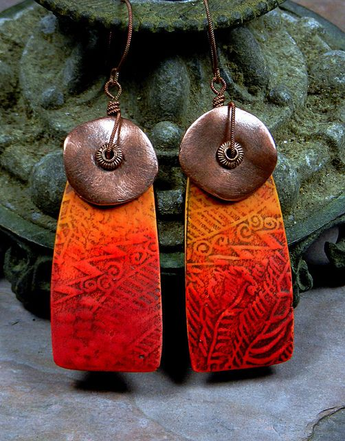 Tellicherry Earrings - Polymer Clay by Stories They Tell, via Flickr