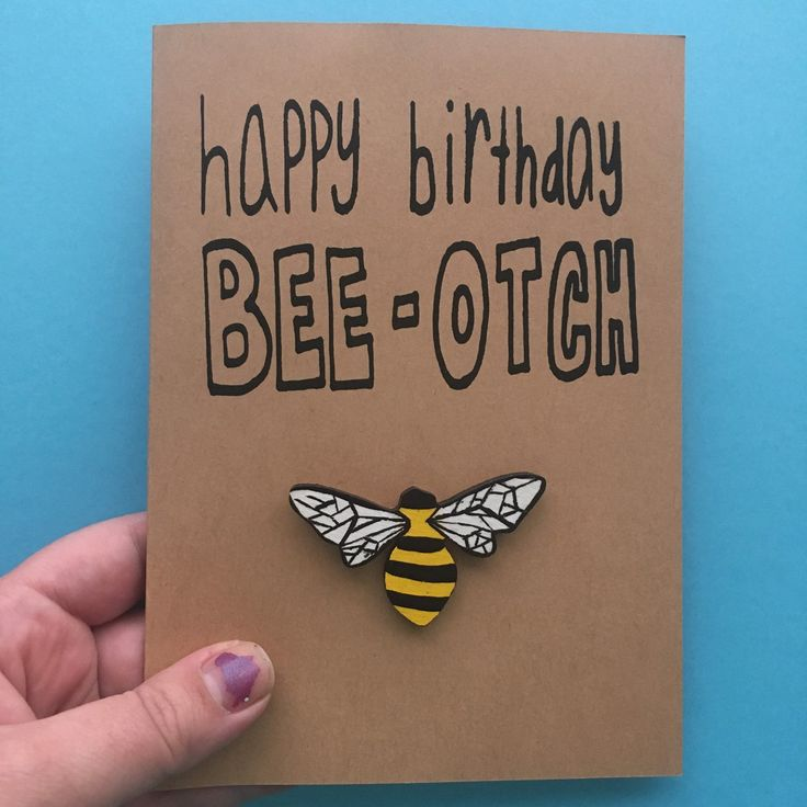 This awesome bee pun card along with several other punny cards are now listed in the shop. Expect more updates by the end of the week including food cat brooches!