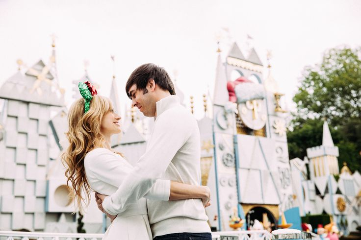 Married and Bright: A Stylish Disneyland Anniversary Photo Shoot