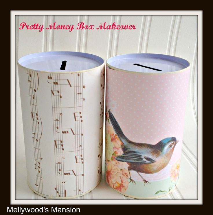 Pretty Money Boxes - 10 minute craft great for teaching kids about savings - interesting savings plan for adults too
