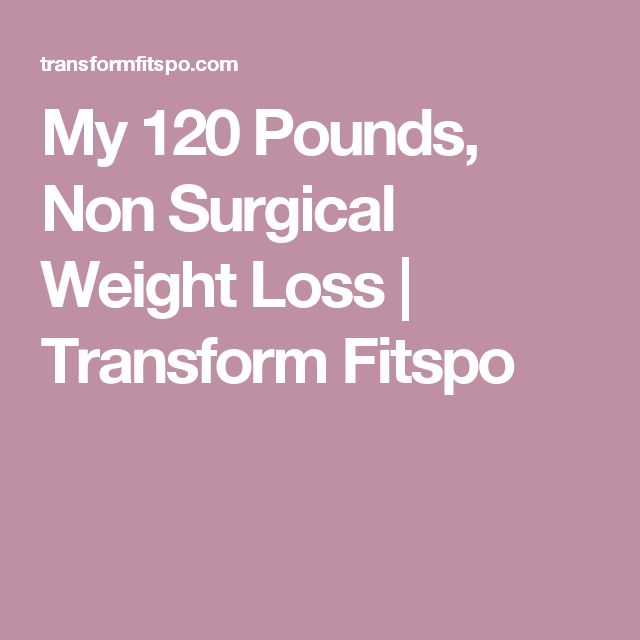 My 120 Pounds, Non Surgical Weight Loss | Transform Fitspo