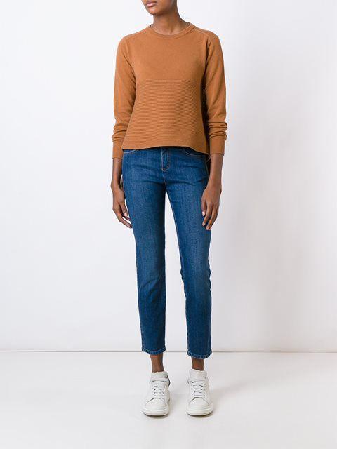 Alexander McQueen укороченные джинсы