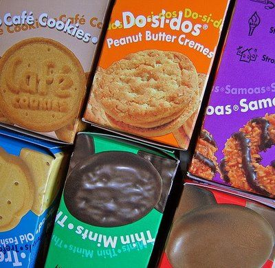 Recipes for all of the Girl Scout cookies!!!!! Thin Mints, Samoas, Tagalongs, Do-Si-Dos, Trefoils, and even the retired Lemon Coolers!