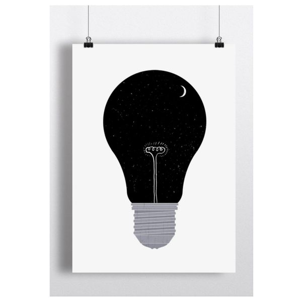 Songwriter and artist Keaton Henson doesn't release many of his artworks in print form so snap the Night Bulb fast. | £19.99 unframed