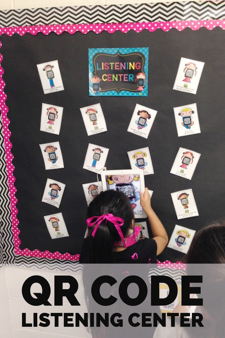 QR Code Listening Center: Students come up and scan a QR code, then listen to a story at their seat and fill out a response sheet.