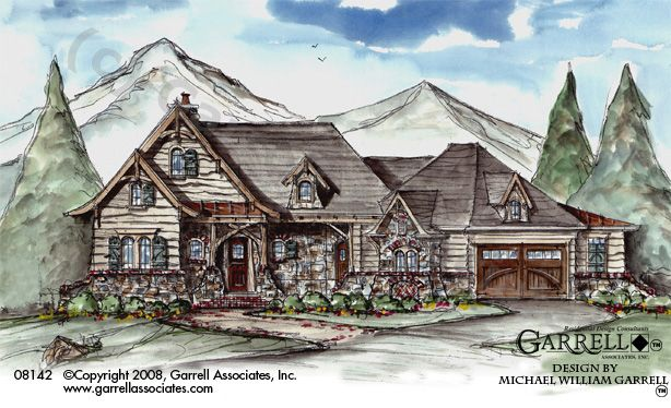 Hot springs cottage house plan 08142 front elevation for New construction ranch style homes in illinois
