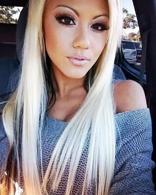 Prime 1000 Images About Hair Mixed Blonde Black On Pinterest Short Hairstyles Gunalazisus