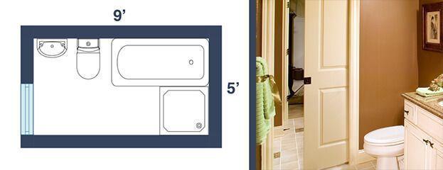 5 ft x 9 ft #bathroomdesign9'x5' #bathroomdesign5x9 ...