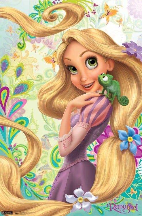 Rapunzel   Tangled - Rapunzel Chameleon 22x34 Movie Poster