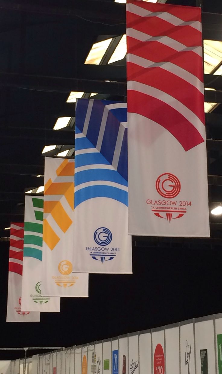 Banners. Kelvinhall. Glasgow 2014. XXth Commonwealth Games.