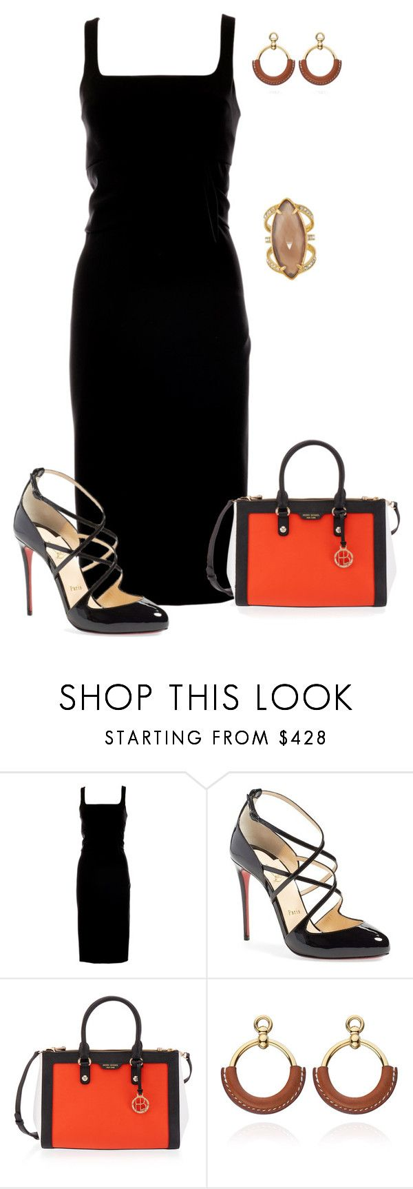 """""""Untitled #762"""" by angela-vitello on Polyvore featuring Moschino, Christian Louboutin and Henri Bendel"""
