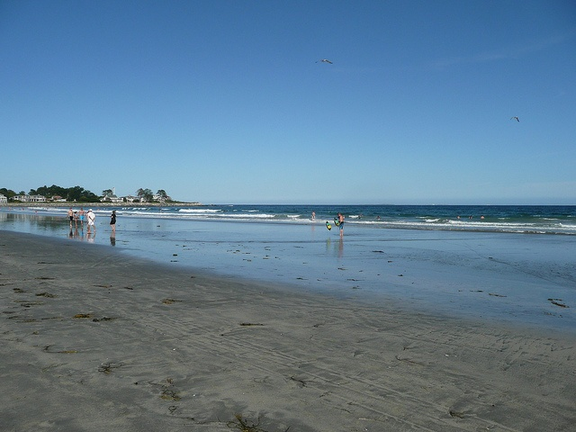 Jenness Beach, Rye, New Hampshire, at low tide, Portsmouth area