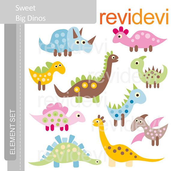 think i'm going to base all the decor off this dino clipart. girly enough for Kara, not too girly for her boy friends :)