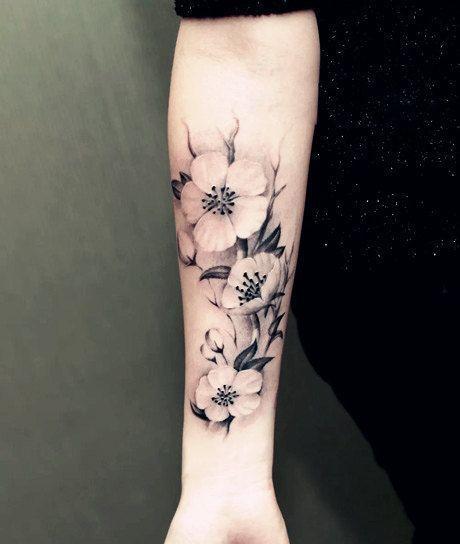 tatuaggio temporaneo pianta fiori grandi fiori di prosciuttojojo