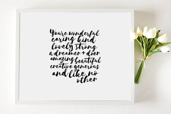 Affirmation Framed Art Print Large  Inspirational by SydneyPaperCo