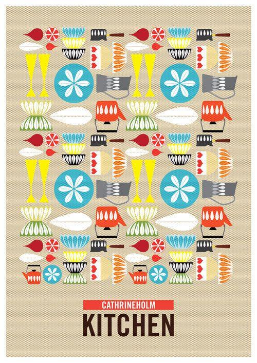 北欧アートプリント・ポスター〈A3 PPlotus S) - 北欧雑貨&ビンテージ食器 北欧デザイン・ストックホルム便