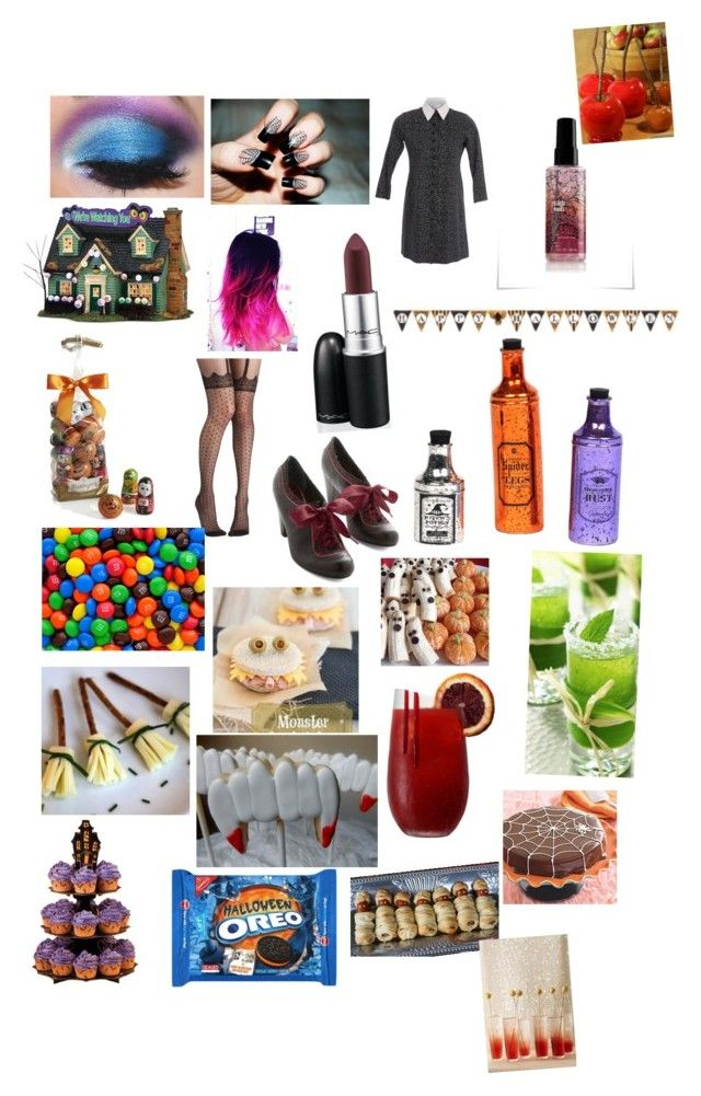 """""""Halloween party"""" by emilyvoyse ❤ liked on Polyvore featuring Department 56, Crate and Barrel, Pretty Polly, Poetic Licence and Wilton"""