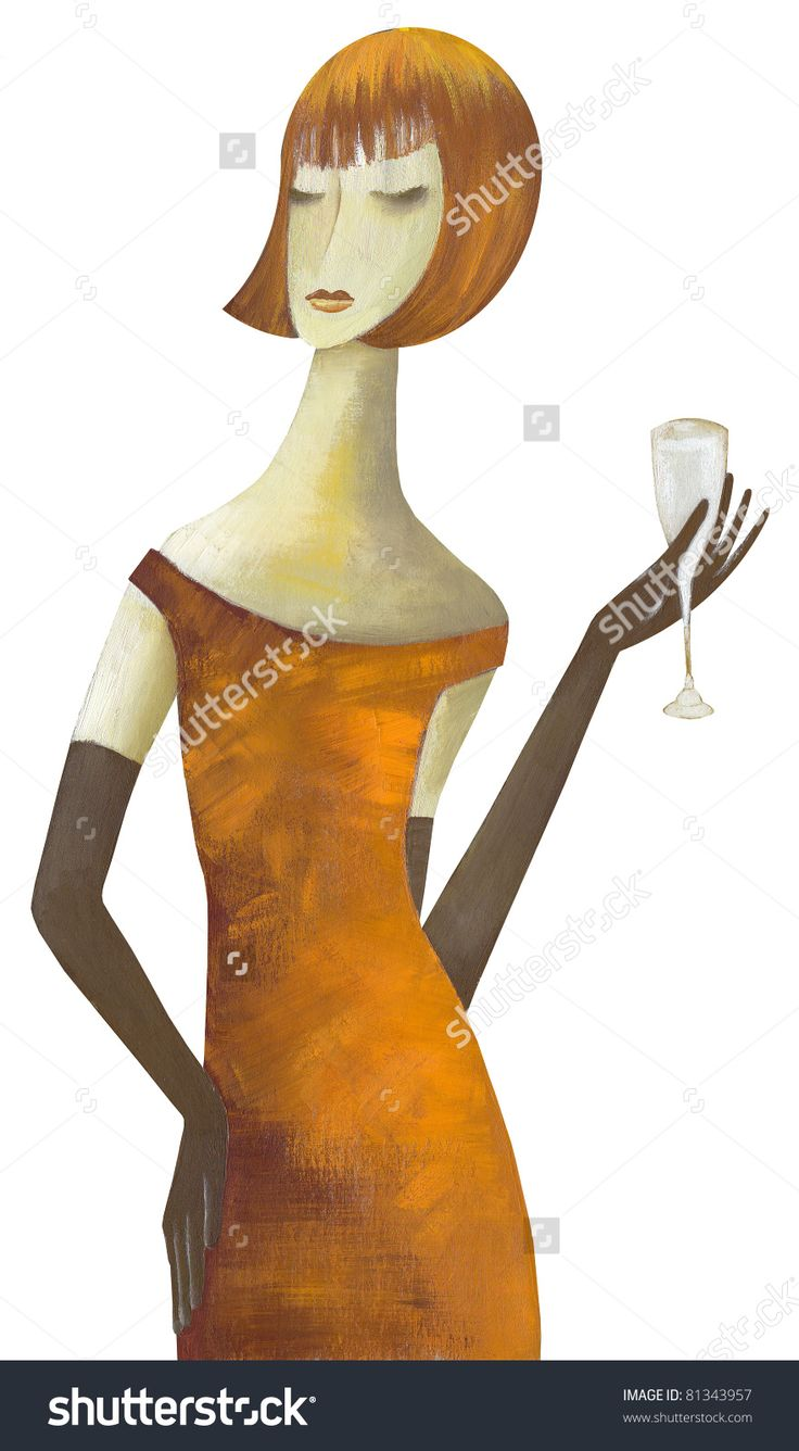 Sexy Woman With Cocktail by Eugene Ivanov. #eugeneivanov #elegant #woman #portrait #lady #painting #art #nude #cubism #girl #female #femina #@eugene_1_ivanov