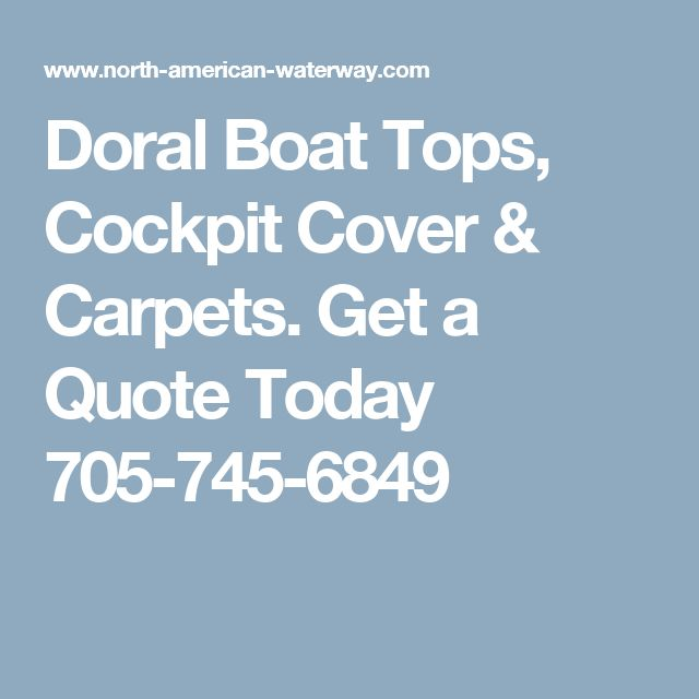Carpet Quote: 67 Best Boat Tops, Cockpit Covers, Snap-on Carpets--Get A