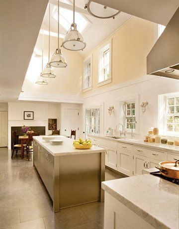 so the ceiling is a little unrealistic but I like the  bright & airy feel of this kitchen.