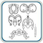 30 patterns and designs ready to decorate a drawer front, mantel trim, or headboard. These designs can be used as cameo, stand alone carvings, or…