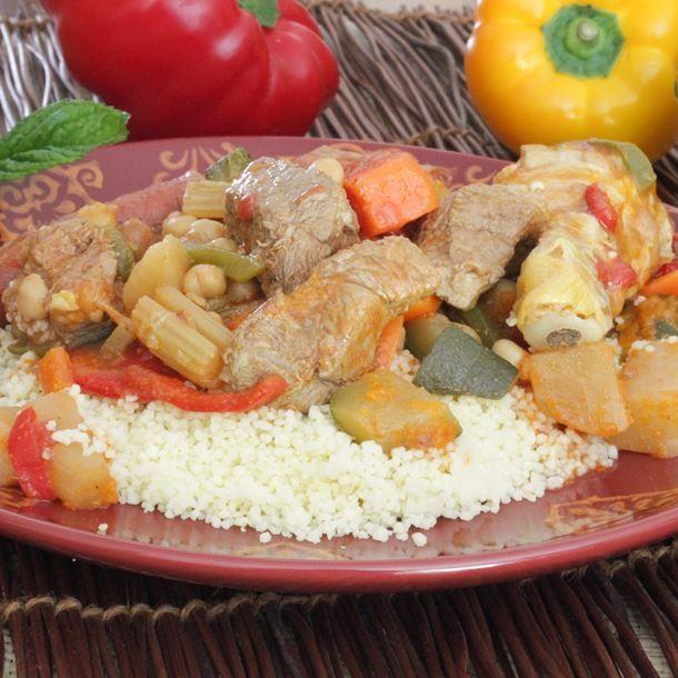 Couscous au boeuf et légumes à la marocaine