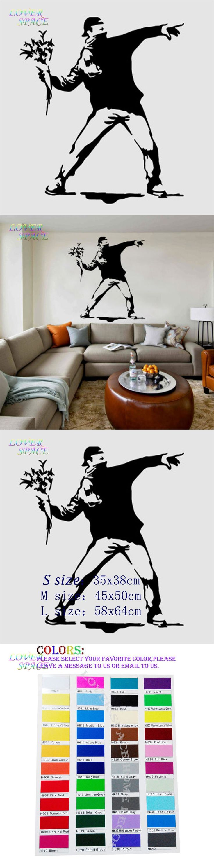 best 25 banksy wall stickers ideas on pinterest hostel bristol banksy wall decal sticker vinyl street art graffiti bedroom flower thrower cool decorative wall stickers home decor ls58171