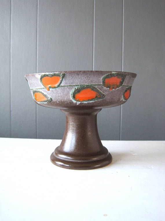 Vintage Strehla Ceramic Bowl Pottery Dish Made in Former