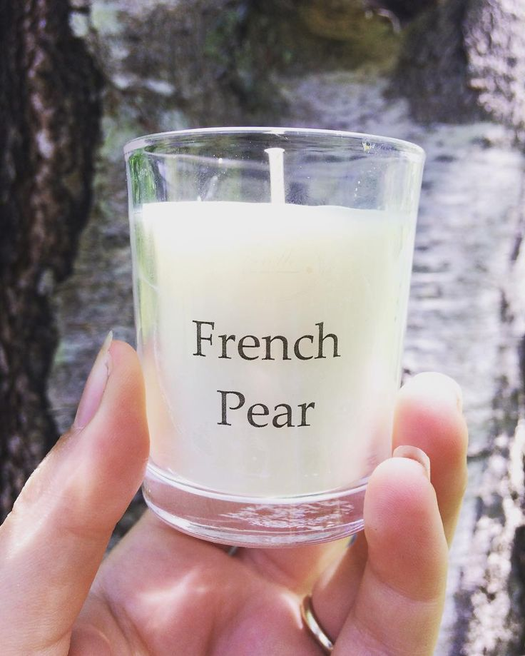 French Pear is our most popular scent all year round. This votive is $6 each or 2 for $10 and will burn for 13 hours. Available for purchase at http://www.trielleadelaidehills.com/