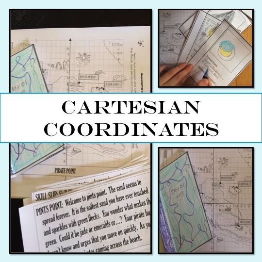 Cartesian coordinates and distances are seriously fun when students travel the islands and then create their own adventure.  My students LOVED this project.