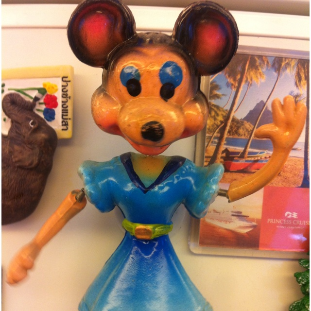 The scariest magnet in the world ever. A weird spring armed mini mouse from Croatia ! From Steve (of Tom n Steve)
