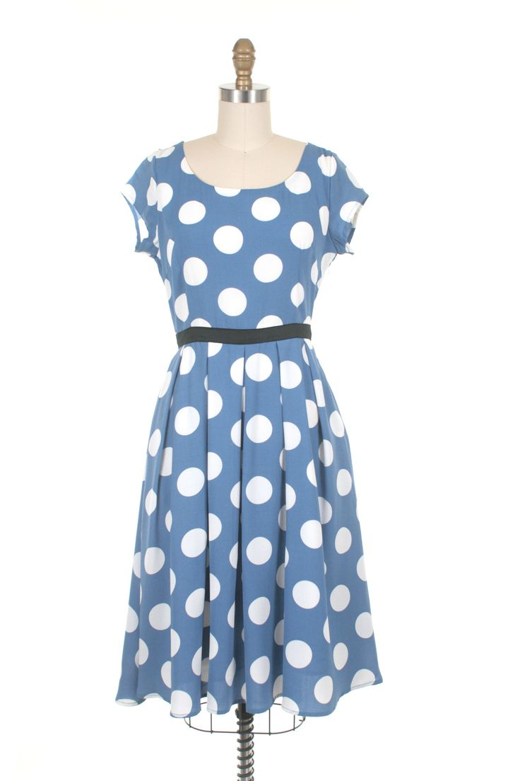 Dot Dress in Periwinkle