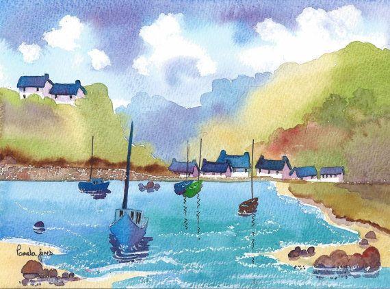 Limited Edition PrintSolva Harbour  by Pamelajonesartstudio, £4.50